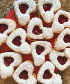 heart shaped cookies made gluten free with love