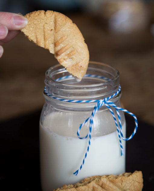 Peanut Butter Cookies and milk great for dipping