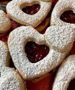 gluten free homemade heart cookie